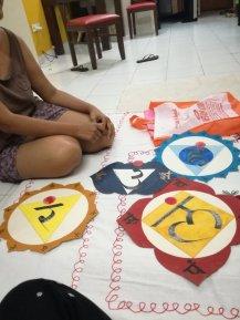 Peintures réalisées par Sarika représentant les différents chakras